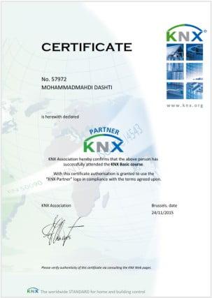 مدرک KNX