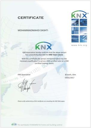 گواهینامه KNX