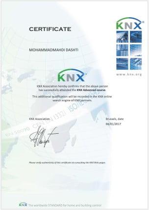 مدارک KNX